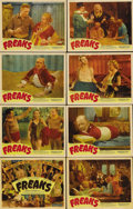"Movie Posters:Horror, Freaks (MGM, R-1949). Lobby Card Set of 8 (11"" X 14""). Thoughdirected by Tod Browning of ""Dracula"" fame, MGM quickly shelve...(Total: 8 Items)"