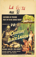 "Movie Posters:Horror, Creature From the Black Lagoon (Universal International, 1954).Window Card (14"" X 22""). Universal's legendary gillman, the ..."