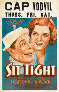 """Movie Posters:Comedy, Sit Tight (Warner Brothers, 1931). Window Card (14"""" X 22""""). Joe E.Brown was Warner Brothers' star comedian and by 1931, he ..."""