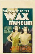 "Movie Posters:Horror, The Mystery of the Wax Museum (Warner Brothers, 1933). Window Card(14"" X 22""). This is the horrific tale of a wax museum cu..."