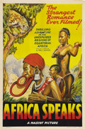 """Movie Posters:Documentary, Africa Speaks! (Mascot, 1930). One Sheet (27"""" X 41""""). Though Columbia Studios originally released this documentary about exp..."""