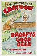 "Movie Posters:Animated, Droopy's Good Deed (MGM, 1951). One Sheet (27"" X 41""). Anotherclassic Tex Avery cartoon finds Droopy and Spike in a Boy Sco..."