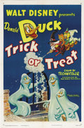 "Movie Posters:Animated, Trick or Treat (RKO, 1952). One Sheet (27"" X 41""). Well, it seemsDisney's favorite duck, Donald, is up to some Halloween mi..."