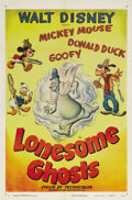 "Movie Posters:Animated, Lonesome Ghosts (RKO, R-1949). One Sheet (27"" X 41""). Four greenphantoms want some fun, so they invite ""Ghost Hunters"" Mick..."