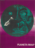 "Movie Posters:Science Fiction, Planet of the Apes (20th Century Fox, 1968). Polish Poster (22"" X31""). The Eryk Lipinski artwork on this poster is light ye..."