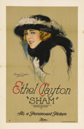 "Movie Posters:Drama, Sham (Paramount, 1921). One Sheet (27"" X 41"") Style B. EthelClayton began her film career in 1909 and continued in the indu..."