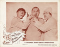 "Movie Posters:Comedy, Monkey Businessmen (Columbia, 1946). Lobby Card (11"" X 14""). Thiscomedy short stars The Three Stooges as inept electricians..."
