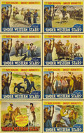 "Movie Posters:Western, Under Western Stars (Republic, 1938). Lobby Card Set of 8 (11"" X 14""). In 1938, after appearing in more than a dozen Western... (Total: 8 Item)"