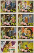 """Movie Posters:Film Noir, Born to Kill (RKO, 1946). Lobby Card Set of 8 (11"""" X 14""""). This setfeatures some brutal shots from this gritty film noir... (Total:8 Item)"""