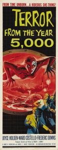 """Movie Posters:Science Fiction, Terror from the Year 5000 (American International, 1958). Insert (14"""" X 36""""). 1950s science fiction yarn about a time machin..."""