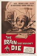 """Movie Posters:Science Fiction, The Brain that Wouldn't Die (American International, 1962). OneSheet (27"""" X 41""""). This cheaply made gore thriller has gaine..."""