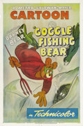 """Movie Posters:Animated, Goggle Fishing Bear (MGM, 1949). One Sheet (27"""" X 41""""). Barney Beardons a diving mask and swim fins to help with his fishin..."""