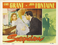 "Suspicion (RKO, 1941). Lobby Card (11"" X 14""). Cary Grant and Joan Fontaine star in Alfred Hitchcock's tale of..."
