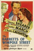 """Movie Posters:Romance, The Barretts of Wimpole Street (MGM, 1934). One Sheet (27"""" X 41"""") Style D. Poet Elizabeth Barrett (Norma Shearer) is almost ..."""
