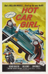 "Hot Car Girl (Universal, 1958). One Sheet (27"" X 41""). Here it is! Quite simply, the best ""Bad Girl""..."