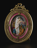 Decorative Arts, French:Other , A Framed French Enamel Plaque. M. Defert, French. Late nineteenth century. Gilt bronze, enamel. Marks: signed M Defert...