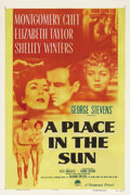 """Movie Posters:Film Noir, A Place In The Sun (Paramount, 1951). One Sheet (27"""" X 41""""). Basedon Theodore Dreiser's brilliant novel, """"An American Trage..."""