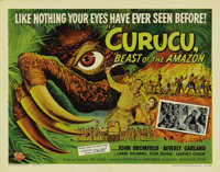 "Curucu, Beast of the Amazon (Universal International, 1956). Half Sheet (22"" X 28""). This film is the stuff th..."