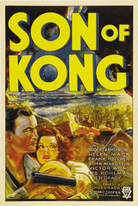 "Son of Kong (RKO, 1933). One Sheet (27"" X 41"") Style A. Beautiful poster for the sequel to one of the most pop..."