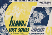"""Island of Lost Souls (Paramount, 1933). Herald (6"""" X 9""""). Charles Laughton stars as the diabolical Dr. Moreau..."""