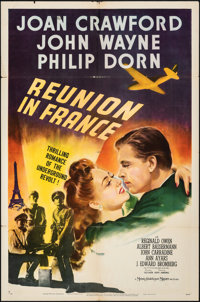 """Reunion in France (MGM, 1942). Folded, Fine+. One Sheet (27"""" X 41"""") Style C. War"""