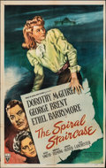 """Movie Posters:Thriller, The Spiral Staircase (RKO, 1945). Folded, Fine+. One Sheet (Approx. 26.75"""" X 41""""). Thriller.. ..."""