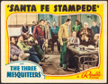 "Movie Posters:Western, Santa Fe Stampede (Republic, 1938). Fine/Very Fine. Lobby Card (11"" X 14""). Western.. ..."