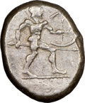 Ancients: PAMPHYLIA. Aspendus. Ca. mid-5th century BC. AR stater (22mm, 4h). NGC Choice VF