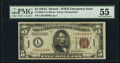 Small Size:World War II Emergency Notes, Fr. 2302 $5 1934A Hawaii Federal Reserve Note. PMG About Uncirculated 55.. ...