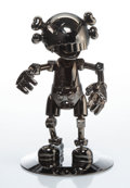 Collectible, KAWS X Hajime Sorayama. No Future Companion (Black Chrome), 2008. Metallized plastic. 12-1/2 x 7-3/4 inches (31.8 x 19.7...