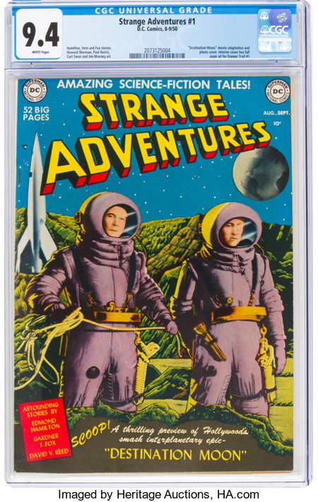 Strange Adventures #1 (DC, 1950) CGC NM 9.4 White pages....
