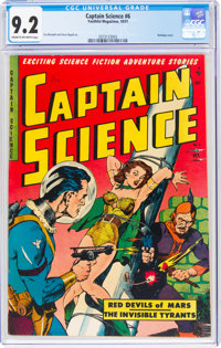 Captain Science #6 (Youthful Magazines, 1951) CGC NM- 9.2 Cream to off-white pages