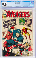 Silver Age (1956-1969):Superhero, The Avengers #4 (Marvel, 1964) CGC NM+ 9.6 Cream to off-white pages....