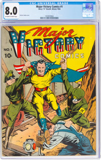 Major Victory Comics #1 (H. Clay Glover Company, 1944) CGC VF 8.0 Off-white to white pages