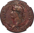 Ancients:Roman Imperial, Ancients: Caligula (AD 37-41). AE sestertius (35mm, 26.35 gm, 6h). NGC XF 5/5 - 2/5, Fine Style....