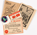 Premiums:Radio, Tom Corbett Space Cadet Official Membership Kit (Partial) Group of 5 (Kellogg, 1951).... (Total: 5 Items)