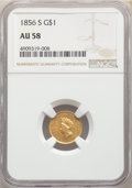 1856-S G$1 Type Two AU58 NGC.(PCGS# 7536)