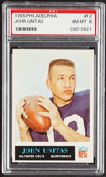 Football Cards:Singles (1960-1969), 1965 Philadelphia John Unitas #12 PSA NM-MT 8....