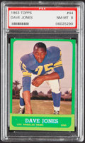 Football Cards:Singles (1960-1969), 1963 Topps Dave Jones #44 PSA NM-MT 8....