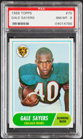 Football Cards:Singles (1960-1969), 1968 Topps Gale Sayers #75 PSA NM-MT 8....