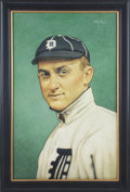 Baseball Collectibles:Others, 2018 Ty Cobb Original Painting by Arthur Miller....