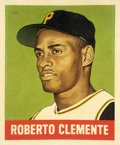 "Baseball Collectibles:Others, 2019 Roberto Clemente 1948 Leaf ""Card That Never Was"" Original Painting by Arthur Miller...."