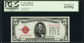 Small Size:Legal Tender Notes, Fr. 1527 $5 1928B Legal Tender Note. PCGS Superb Gem New 67PPQ.. ...