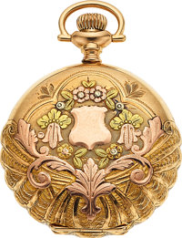 Waltham 14k Multicolor Gold O Size, Fancy Dial, circa 1907