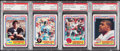 Football Cards:Lots, 1984 Topps USFL Hall of Fame Rookies PSA NM-MT 8 Quartet (4). ... (Total: 4 items)