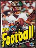 Football Cards:Boxes & Cases, 1983 Topps Football Wax Box With 36 Unopened Packs - Allen & Singletary Rookie Year. ...