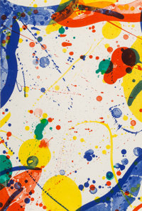 Sam Francis (1923-1994) Untitled, 1966 Lithograph in colors on Rives BFK paper 23-1/2 x 15-3/4 in