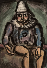 Georges Rouault (1871-1958) Le Vieux Clown, from Cirque, 1930 Aquatint in colors on paper