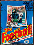 Football Cards:Boxes & Cases, 1982 Topps Football Wax Box With 36 Unopened Packs - Lawrence Taylor Rookie Year! ...