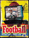 Football Cards:Boxes & Cases, 1985 Topps Football Wax Box With 36 Unopened Packs. ...
